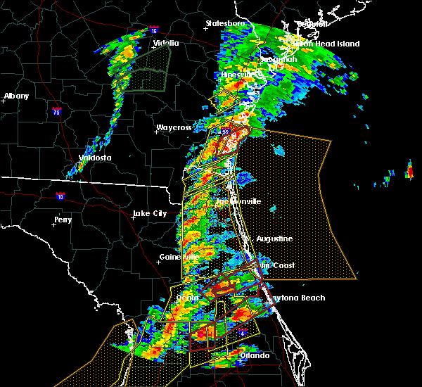Radar Image for Severe Thunderstorms near Seville, FL at 1/22/2017 7:00 PM EST