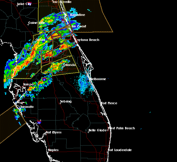 Radar Image for Severe Thunderstorms near Sorrento, FL at 1/22/2017 7:03 PM EST