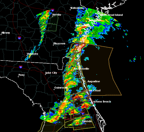 Radar Image for Severe Thunderstorms near Welaka, FL at 1/22/2017 7:06 PM EST