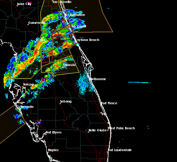 Radar Image for Severe Thunderstorms near Azalea Park, FL at 1/22/2017 7:06 PM EST
