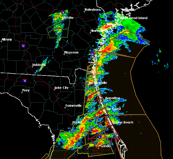 Radar Image for Severe Thunderstorms near Bunnell, FL at 1/22/2017 7:21 PM EST