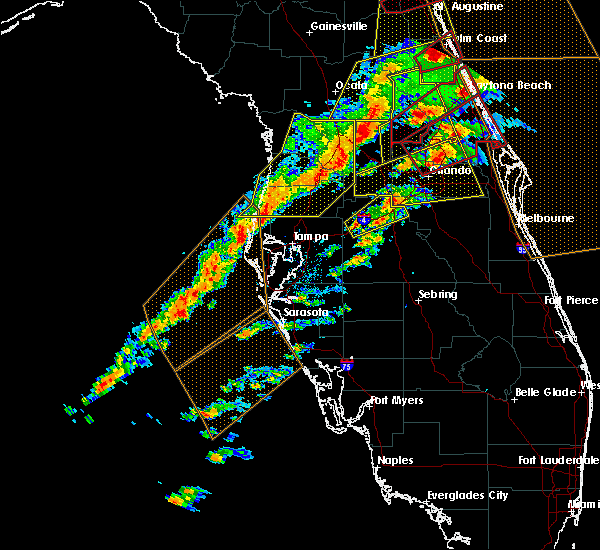 Radar Image for Severe Thunderstorms near Four Corners, FL at 1/22/2017 7:24 PM EST