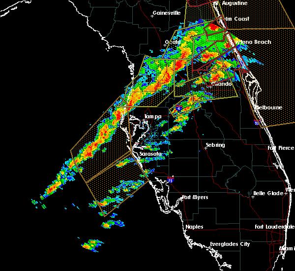 Radar Image for Severe Thunderstorms near Lakeland, FL at 1/22/2017 7:24 PM EST