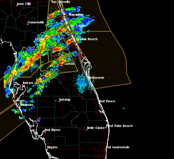 Radar Image for Severe Thunderstorms near Azalea Park, FL at 1/22/2017 7:24 PM EST