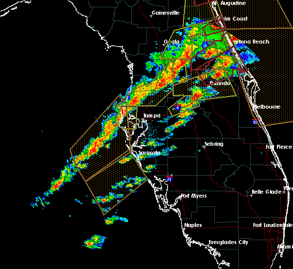 Radar Image for Severe Thunderstorms near Webster, FL at 1/22/2017 7:28 PM EST