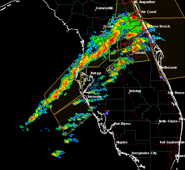 Radar Image for Severe Thunderstorms near Tampa, FL at 1/22/2017 7:28 PM EST