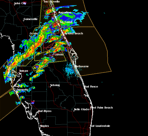 Radar Image for Severe Thunderstorms near Sorrento, FL at 1/22/2017 7:30 PM EST