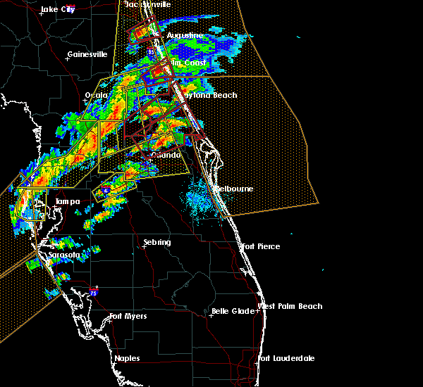 Radar Image for Severe Thunderstorms near Orange City, FL at 1/22/2017 7:34 PM EST