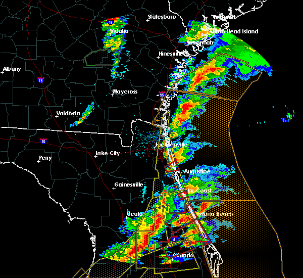 Radar Image for Severe Thunderstorms near Ormond Beach, FL at 1/22/2017 7:37 PM EST