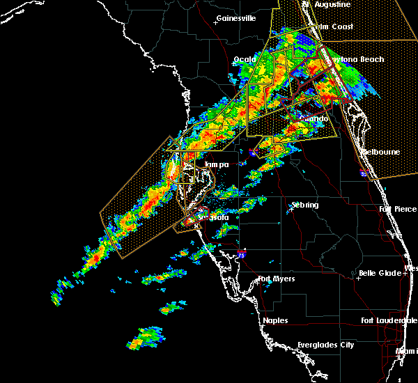 Radar Image for Severe Thunderstorms near Desoto Lakes, FL at 1/22/2017 7:43 PM EST