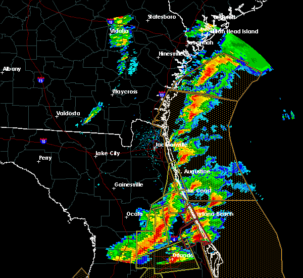 Radar Image for Severe Thunderstorms near Ormond Beach, FL at 1/22/2017 7:50 PM EST