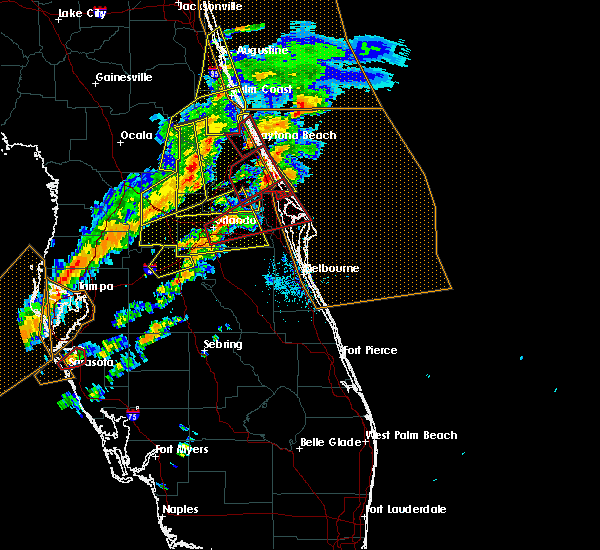 Radar Image for Severe Thunderstorms near Sorrento, FL at 1/22/2017 7:55 PM EST