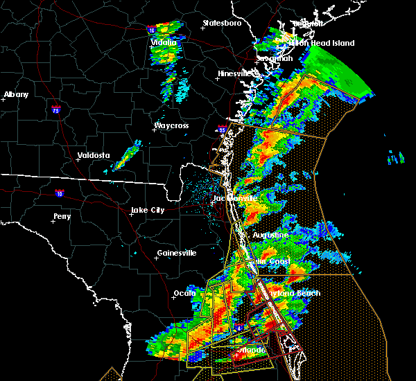 Radar Image for Severe Thunderstorms near Ormond Beach, FL at 1/22/2017 7:58 PM EST