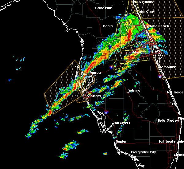 Radar Image for Severe Thunderstorms near West Lealman, FL at 1/22/2017 7:58 PM EST