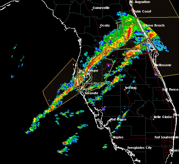 Radar Image for Severe Thunderstorms near Tampa, FL at 1/22/2017 8:07 PM EST