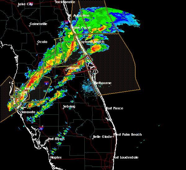 Radar Image for Severe Thunderstorms near Azalea Park, FL at 1/22/2017 8:13 PM EST