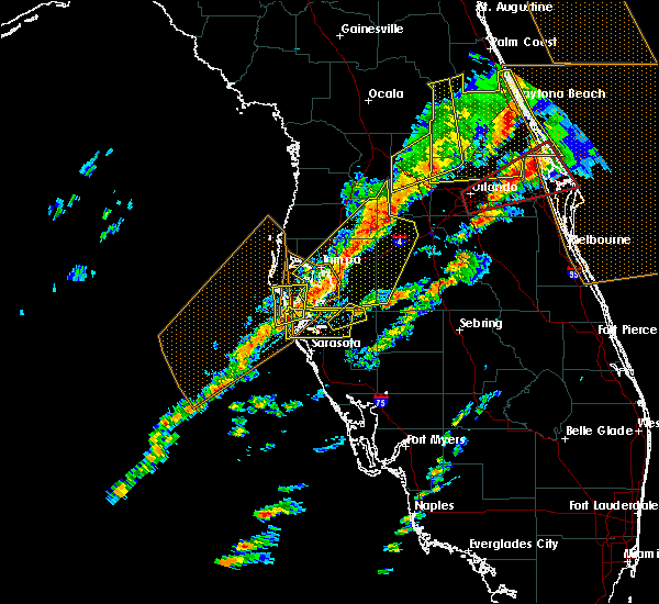 Radar Image for Severe Thunderstorms near Bayshore Gardens, FL at 1/22/2017 8:27 PM EST