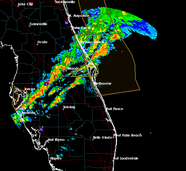 Radar Image for Severe Thunderstorms near Merritt Island, FL at 1/22/2017 8:59 PM EST