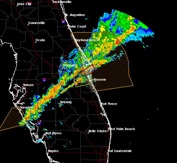Radar Image for Severe Thunderstorms near Merritt Island, FL at 1/22/2017 10:01 PM EST