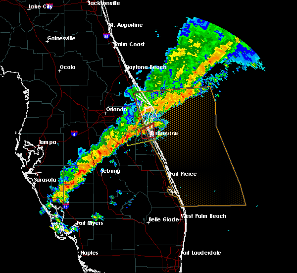Radar Image for Severe Thunderstorms near Merritt Island, FL at 1/22/2017 10:24 PM EST