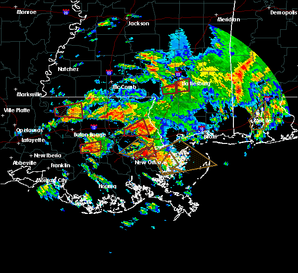 Radar Image for Severe Thunderstorms near Gramercy, LA at 2/7/2017 11:21 AM CST