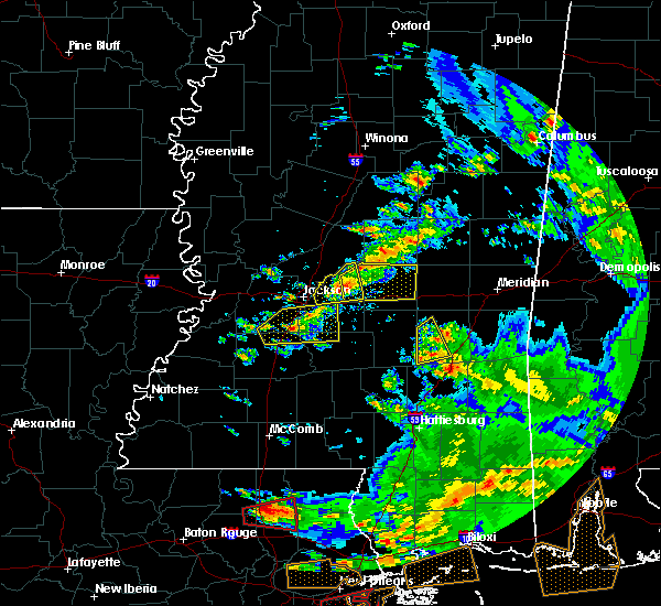 Radar Image for Severe Thunderstorms near Bay Springs, MS at 2/7/2017 12:45 PM CST