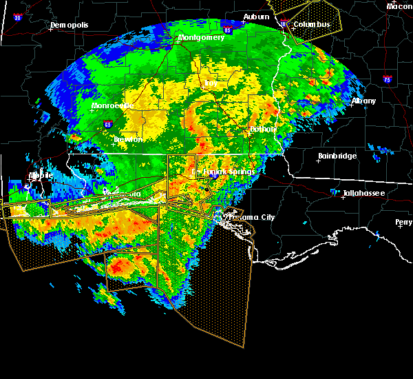 Radar Image for Severe Thunderstorms near Ponce de Leon, FL at 2/7/2017 3:50 PM CST