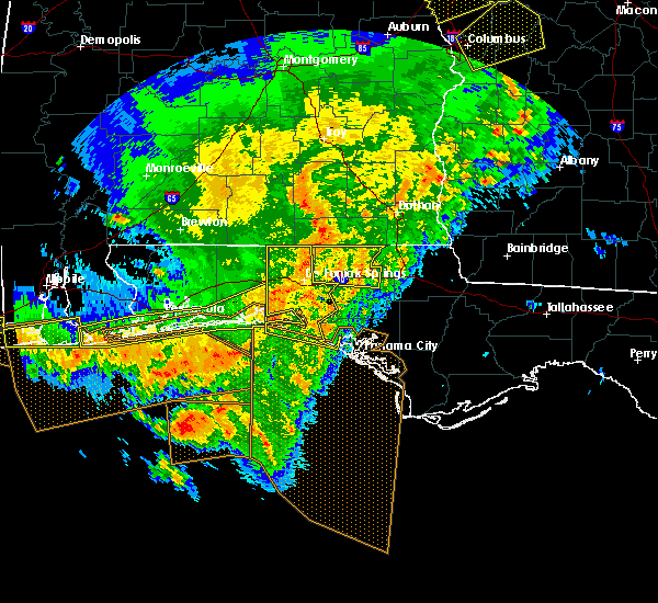 Radar Image for Severe Thunderstorms near Ponce de Leon, FL at 2/7/2017 3:53 PM CST