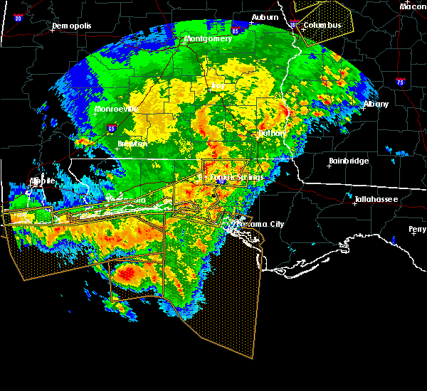 Radar Image for Severe Thunderstorms near Ponce de Leon, FL at 2/7/2017 3:58 PM CST