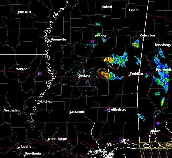 Radar Image for Severe Thunderstorms near Pearl River, MS at 2/7/2017 4:14 PM CST