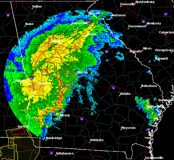 Radar Image for Severe Thunderstorms near Salem, GA at 2/7/2017 5:30 PM EST