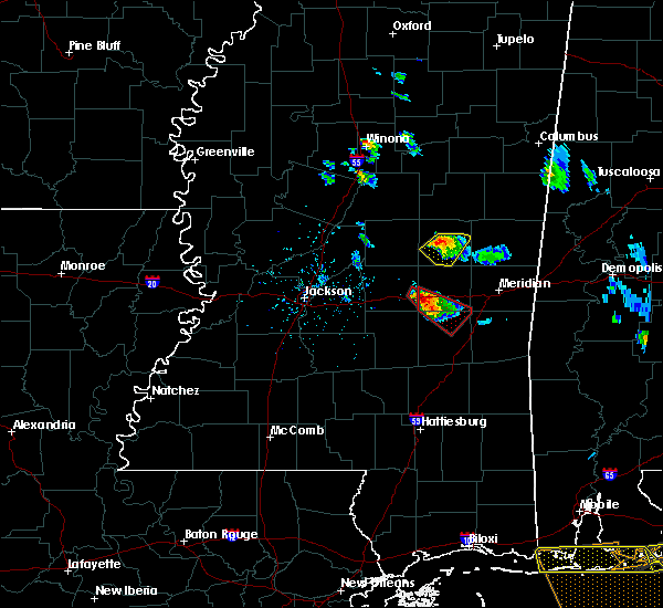 Radar Image for Severe Thunderstorms near Pearl River, MS at 2/7/2017 4:40 PM CST