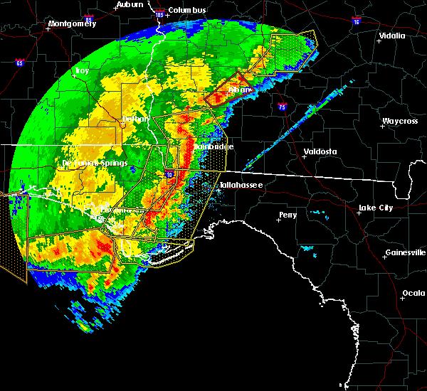 Radar Image for Severe Thunderstorms near Carrabelle, FL at 2/7/2017 6:22 PM EST