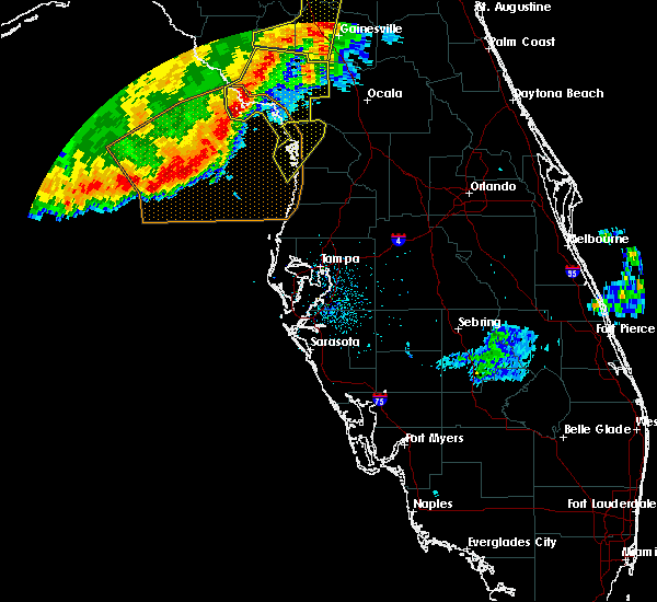 Radar Image for Severe Thunderstorms near East Bronson, FL at 2/7/2017 9:44 PM EST