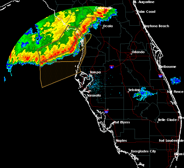 Radar Image for Severe Thunderstorms near Inglis, FL at 2/7/2017 10:20 PM EST