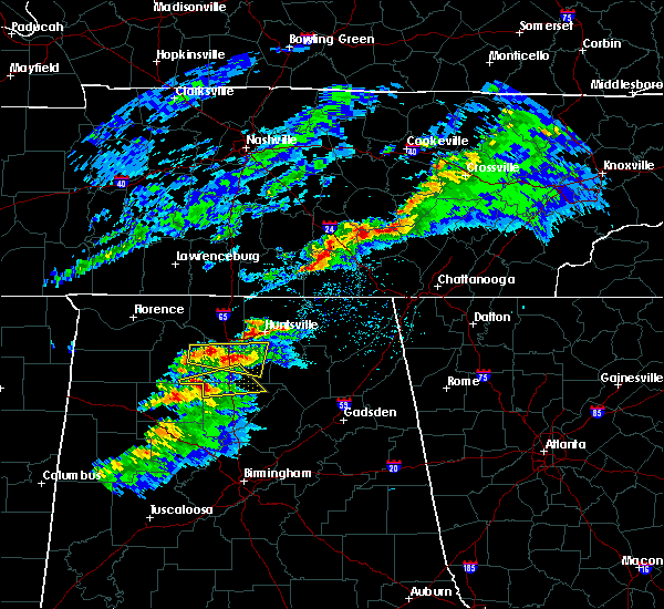 Radar Image for Severe Thunderstorms near Hartselle, AL at 2/8/2017 7:10 PM CST