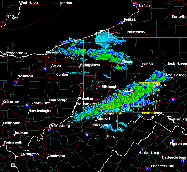 Radar Image for Severe Thunderstorms near Youngstown, PA at 2/12/2017 8:35 PM EST