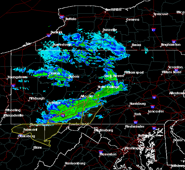 Radar Image for Severe Thunderstorms near McConnellsburg, PA at 2/12/2017 9:02 PM EST