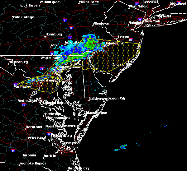 Radar Image for Severe Thunderstorms near Buena, NJ at 2/12/2017 11:13 PM EST