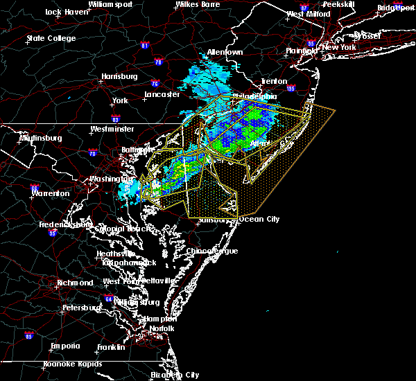 Radar Image for Severe Thunderstorms near Clayton, NJ at 2/12/2017 11:56 PM EST
