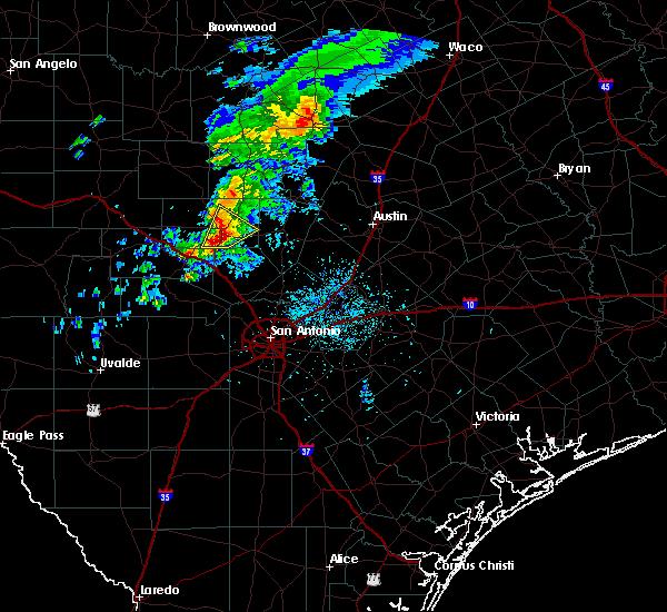 Radar Image for Severe Thunderstorms near Fredericksburg, TX at 2/13/2017 10:46 PM CST