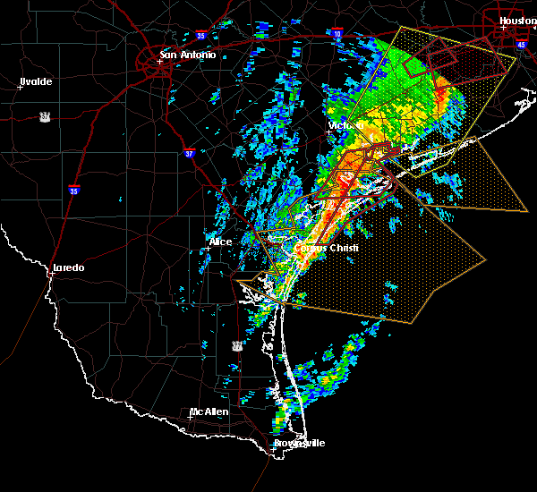 Radar Image for Severe Thunderstorms near Corpus Christi, TX at 2/14/2017 8:15 AM CST
