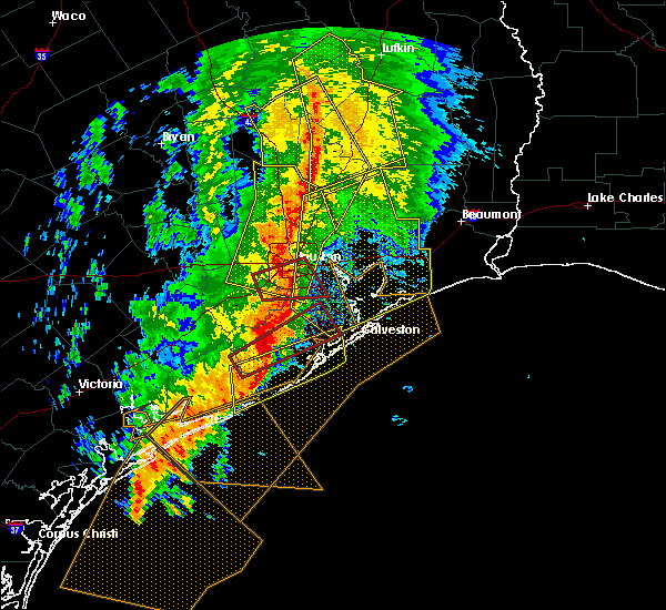 Radar Image for Severe Thunderstorms near Channelview, TX at 2/14/2017 9:00 AM CST