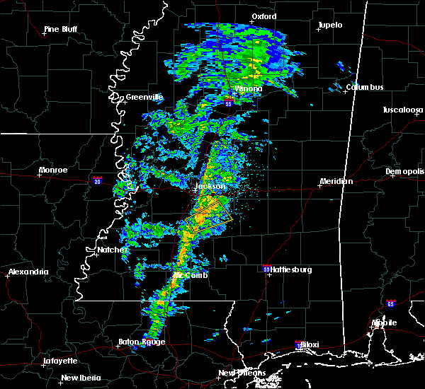 Radar Image for Severe Thunderstorms near Georgetown, MS at 2/14/2017 10:09 PM CST