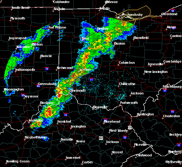 Radar Image for Severe Thunderstorms near Germantown, OH at 2/24/2017 7:44 PM EST