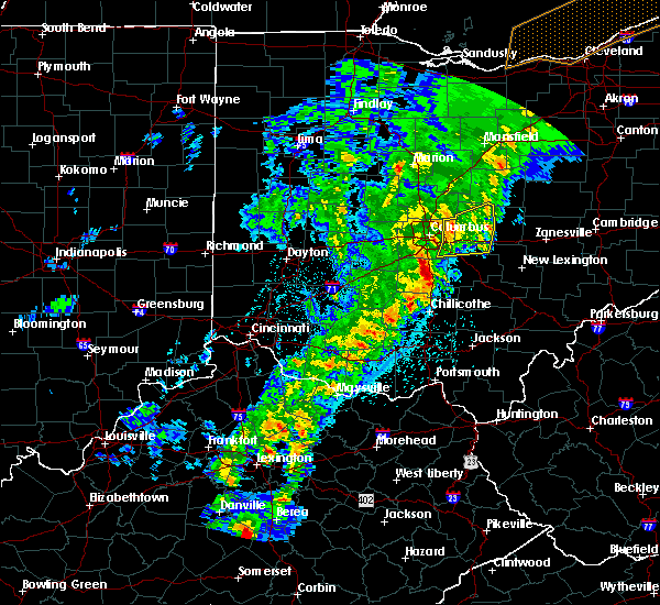 Radar Image for Severe Thunderstorms near New Albany, OH at 2/24/2017 10:34 PM EST