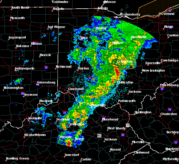 Radar Image for Severe Thunderstorms near New Albany, OH at 2/24/2017 10:42 PM EST