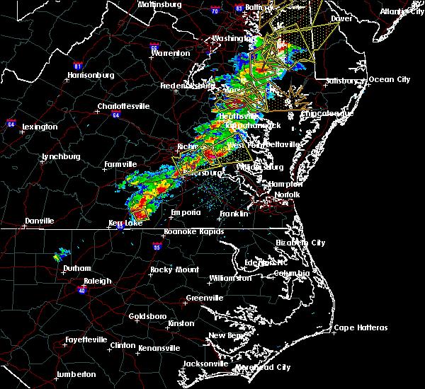 Radar Image for Severe Thunderstorms near Lawrenceville, VA at 2/25/2017 4:16 PM EST