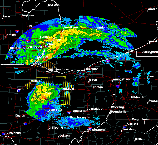 Radar Image for Severe Thunderstorms near New Riegel, OH at 3/1/2017 12:58 AM EST