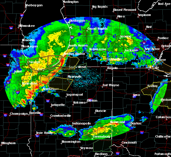 Radar Image for Severe Thunderstorms near Winamac, IN at 3/1/2017 12:01 AM CST